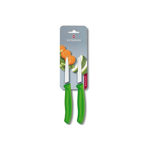 Victorinox, Swiss Classic set 2 cuchillo para verdura/Puntiagudo color VERDE 6.7606.L114B