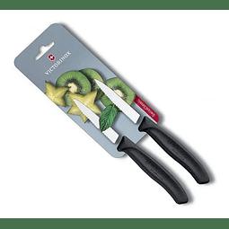 Set De 2 Cuchillos Dentados Victorinox En Negro 6.7633.b 8CMS