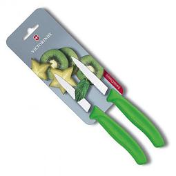 Set De 2 Cuchillos Dentados Victorinox En Negro 6.7636.L114B 8CMS