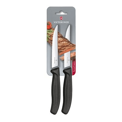 Cuchillo Cocina Swiss Classic color Negro. Hoja 12 cm. Victorinox