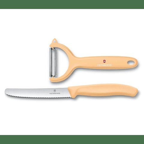 Cuchillo Victorinox 11cms con pelador 6.7116.23L92