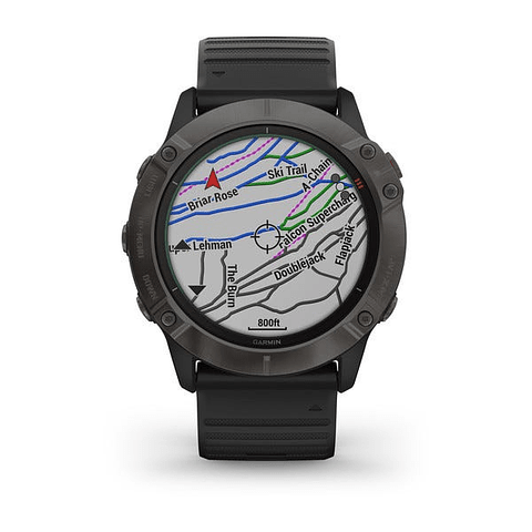 garmin Reloj fenix 6X Pro Solar Titanium Carbon Gray DLC 010-02157-26