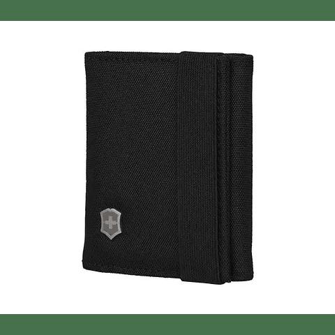 Billetera de tres pliegues Victorinox 610394 color Negro