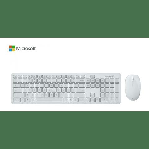 teclado Microsoft Combo Mouse Bluetooth Desktop Blanco