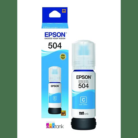 Epson Tinta T504 Azul Cyan T504