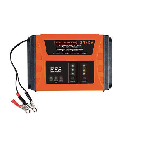Cargador de Baterías Black&Decker  BC12 Inteligente de Control Automático y Manual 2 / 8 / 12Amp