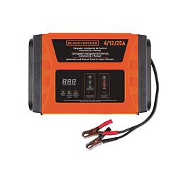 Cargador de Baterías IBlack+Decker Inteligente de Control Automático y Manual 4 / 12 / 25Amp BC25