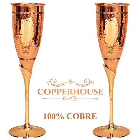 Set de 2 copas Marca Copperhouse 100% cobre 2-168-DES/2