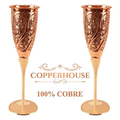 Set de 2 copas Marca Copperhouse 100% cobre 2-165-H/2