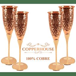 Set de 4 copas Marca Copperhouse 100% cobre  2-165-H/4