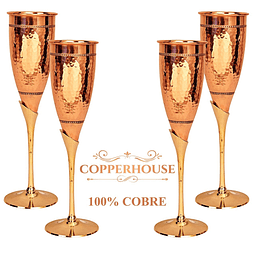 Set de 4 copas Marca Copperhouse 100% cobre 2-168-DIS/4