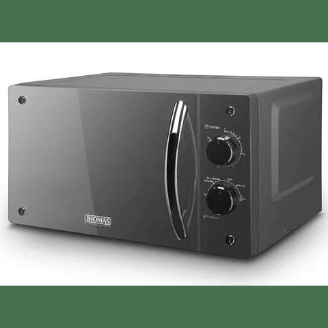 Microondas  Analogo Espejado Thomas 20 Litros TH20S01