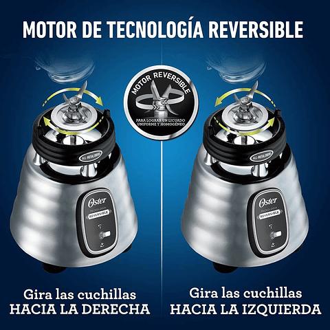 Licuadora clásica Oster® acero inoxidable con motor reversible BLSTBESTE