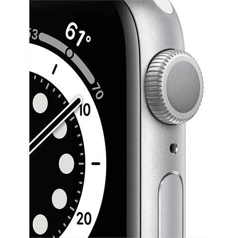 Apple Watch Series 6 (GPS, 44mm, aluminio , banda deportiva blanco) MOOD3LL/A