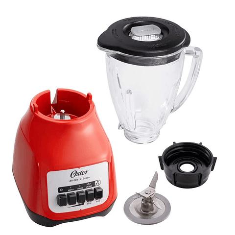 Licuadora Oster® 2 velocidades más pulso y vaso de vidrio BLSTKAGRPB