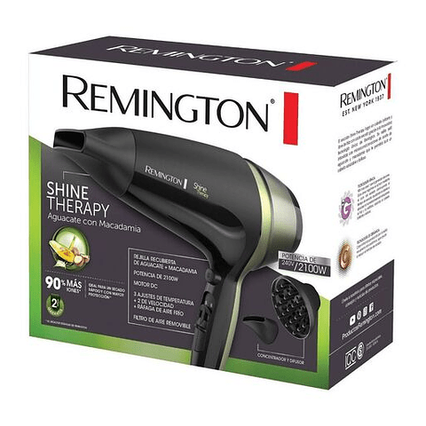 Secador Remington Shine Therapy D13A Negro