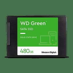 DISCO DURO WD Green™ 480GB SATA SSD 2,5 pulgadas/7 mm con carcasa WDS480G2G0A