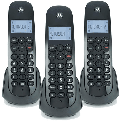 Teléfono Motorola Pack de 3 Inalámbricos M700-3