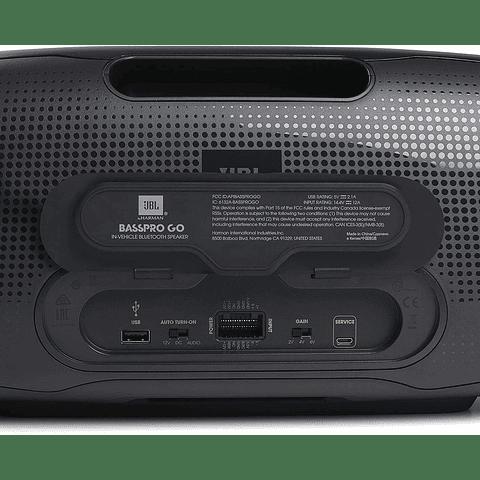 JBL BassPro Go - subwoofer alimentado en vehículo y altavoz Bluetooth portátil de rango completo