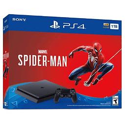 Consola de juego Sony Playstation 4 1TB con Juego Spiderman