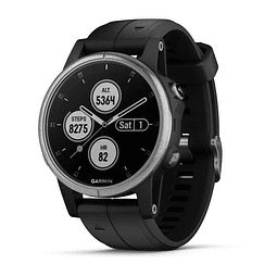 Garmin fenix 5S Plus Glass Silver Black 00-01987-26
