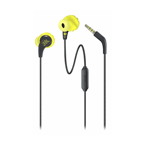 Audifono cable JBL RUN amarillo/negro