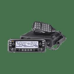 Radio móvil doble banda VHF/UHF, TX:144-148MHz, 430-450MHz. RX: 118-174MHz, 375-550MHz.