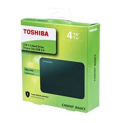 Disco Portátil Toshiba Canvio Basics, 4TB, USB 3.0 NEGRO