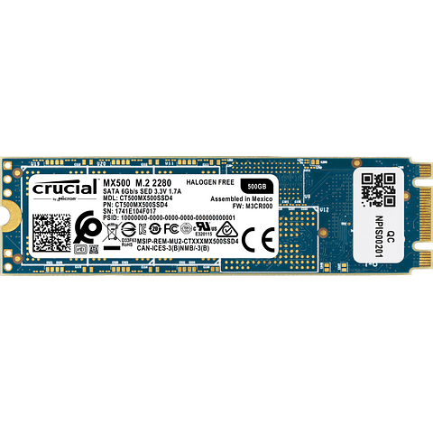 Crucial MX500 500GB 3D NAND M.2 Type 2280 Internal SSD CT500MX500SSD4