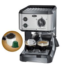 Cafetera de vapor espresso y cappuccino Oster BVSTECMP65