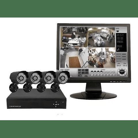 Kit 4 Camaras De Seguridad Cctv + Dvr Interior Y Exterior 1TB HDD incl.