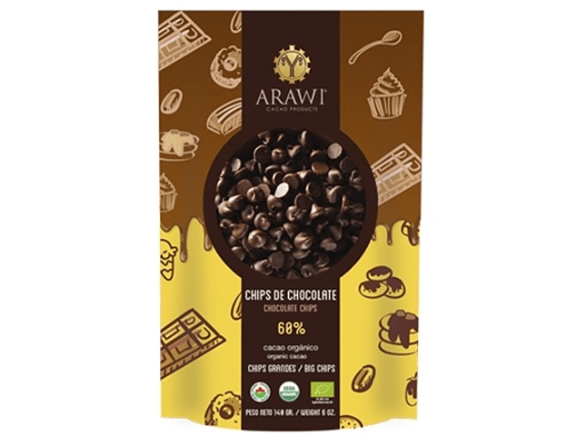 Chips 60% cacao 140 gr.