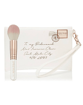 BRIDESMAID CLUTCH BAG AND BRUSH