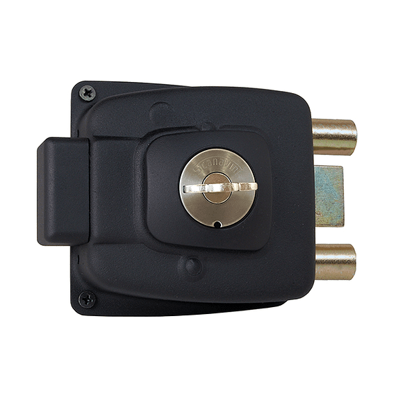 Cerradura de acceso Principal, reja o bodega para puertas de hasta 50 mm /Sin Tirador