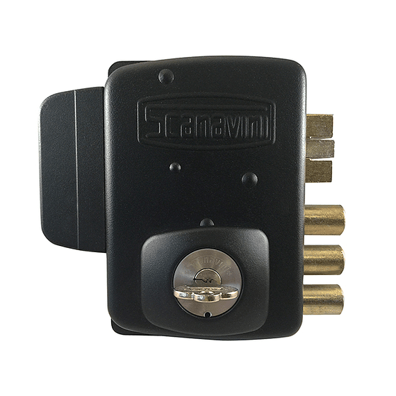 Cerradura Eléctrica para mampara, bodega, acceso principal, reja u oficina para puertas de hasta 50 mm de espesor