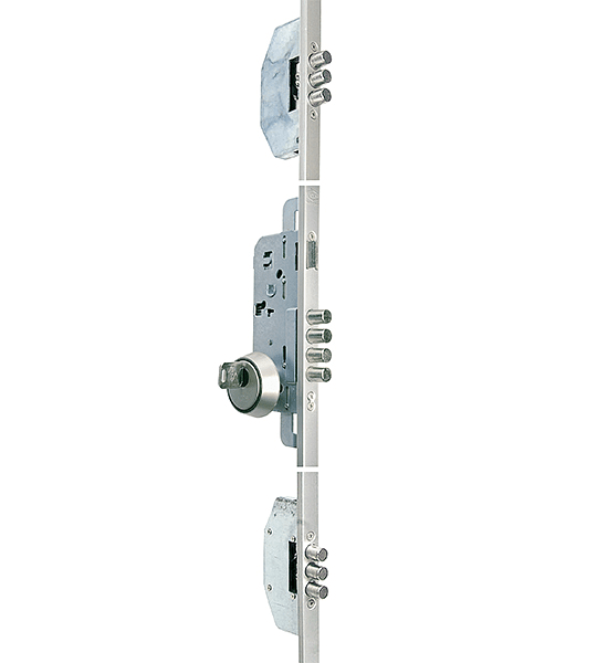 Cerradura de Embutir Multipunto para acceso principal (Mano izquierda)
