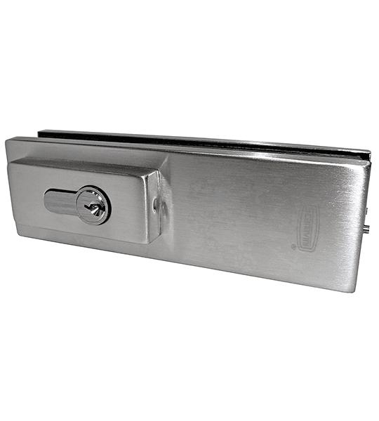 Herraje inferior con cerradura puerta vidriada DT-7010