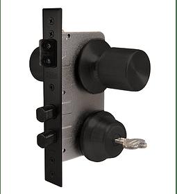 Cerradura Acceso Principal. Pomo exterior fijo e interior libre