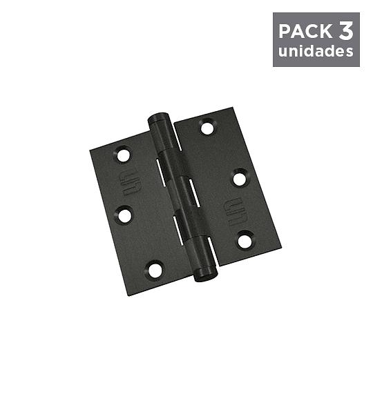 Bisagras Negras 25x25 / Sin Rodamientos