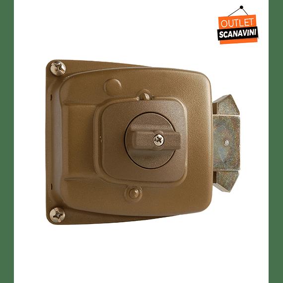 Cerradura de Corredera, seguridad o bodega para puertas de hasta 45 mm
