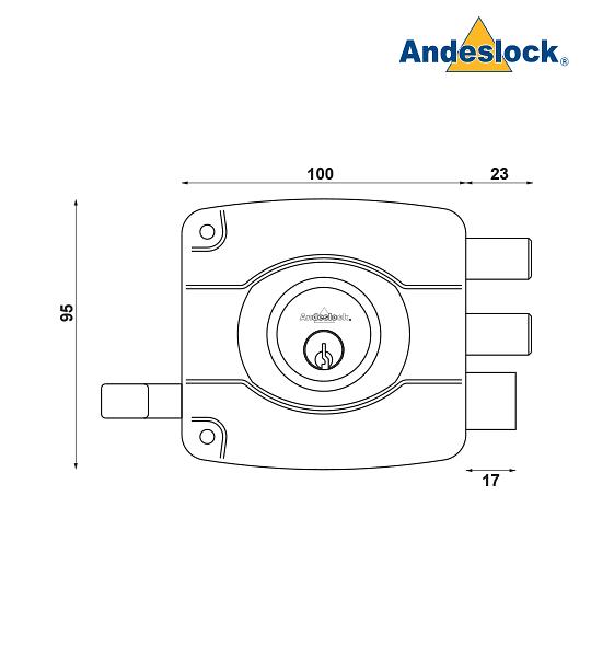 Cerradura de acceso Principal, reja o bodega para puertas de hasta 45 mm