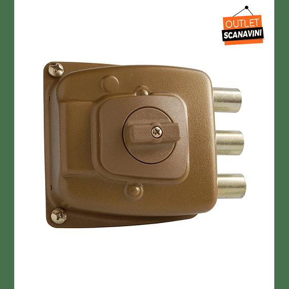 Cerradura de seguridad, reja o bodega para puertas de hasta 50 mm