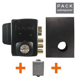 Cerradura Eléctrica para mampara, bodega, acceso principal + Caja Metálica + Transformador Eléctrico