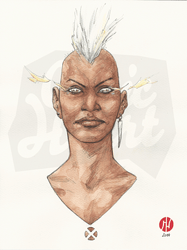 Storm from X-Men Watercolor