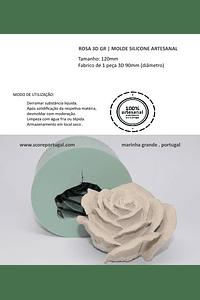 ROSA 3D GR | MOLDE SILICONE ARTESANAL