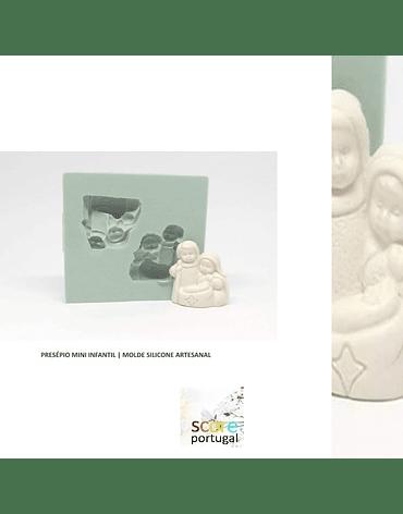 PRESÉPIO MINI INFANTIL | MOLDE SILICONE ARTESANAL