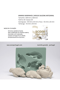 ANIMAIS MARINHOS | MOLDE SILICONE ARTESANAL