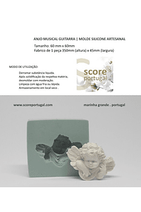 ANJO MUSICAL GUITARRA | MOLDE SILICONE ARTESANAL