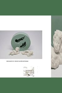MINI ANJOS 3D | MOLDE SILICONE ARTESANAL
