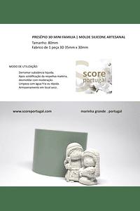 PRESÉPIO 3D MINI FAMILIA | MOLDE SILICONE ARTESANAL